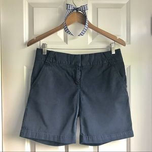 J Crew Classic Twill Chino Shorts